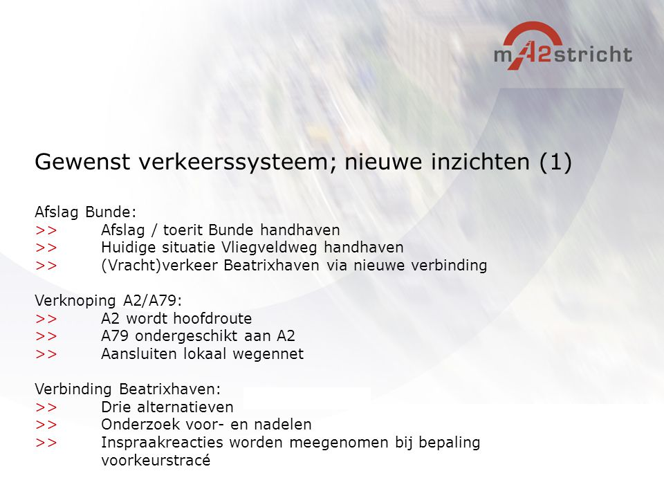 Gewenst verkeerssysteem; nieuwe inzichten (1)