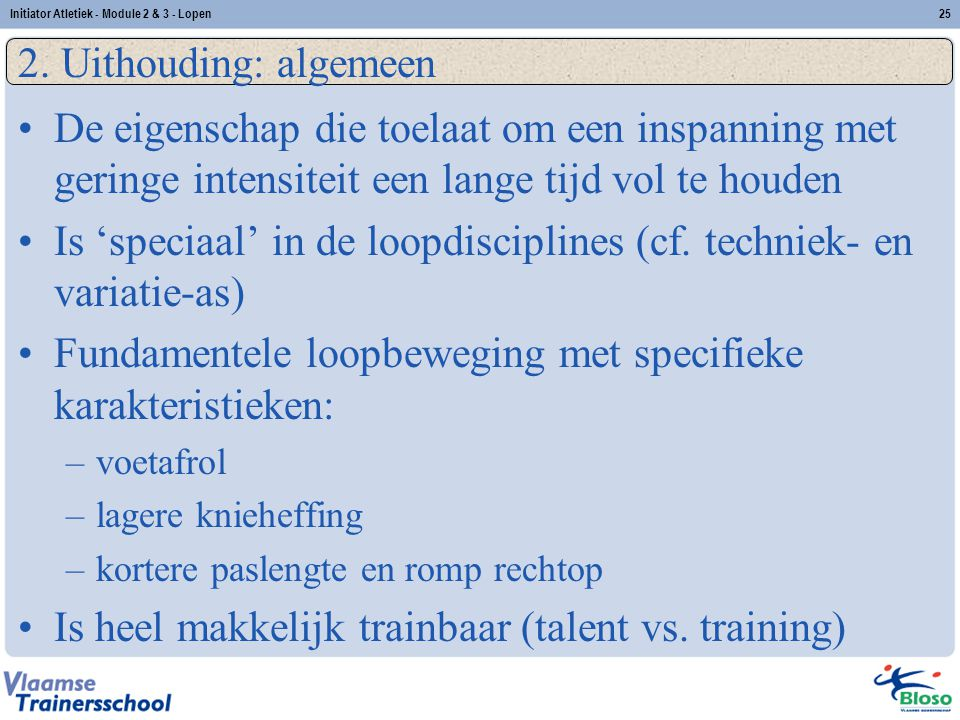 Is 'speciaal' in de loopdisciplines (cf. techniek- en variatie-as)