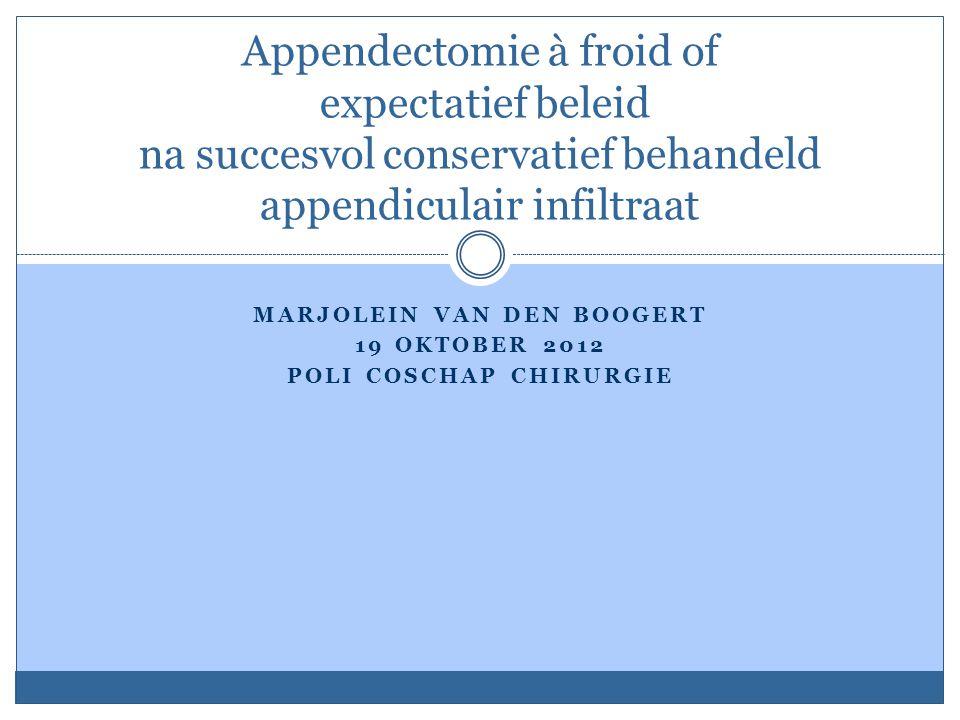 Marjolein van den Boogert 19 oktober 2012 poli coschap chirurgie