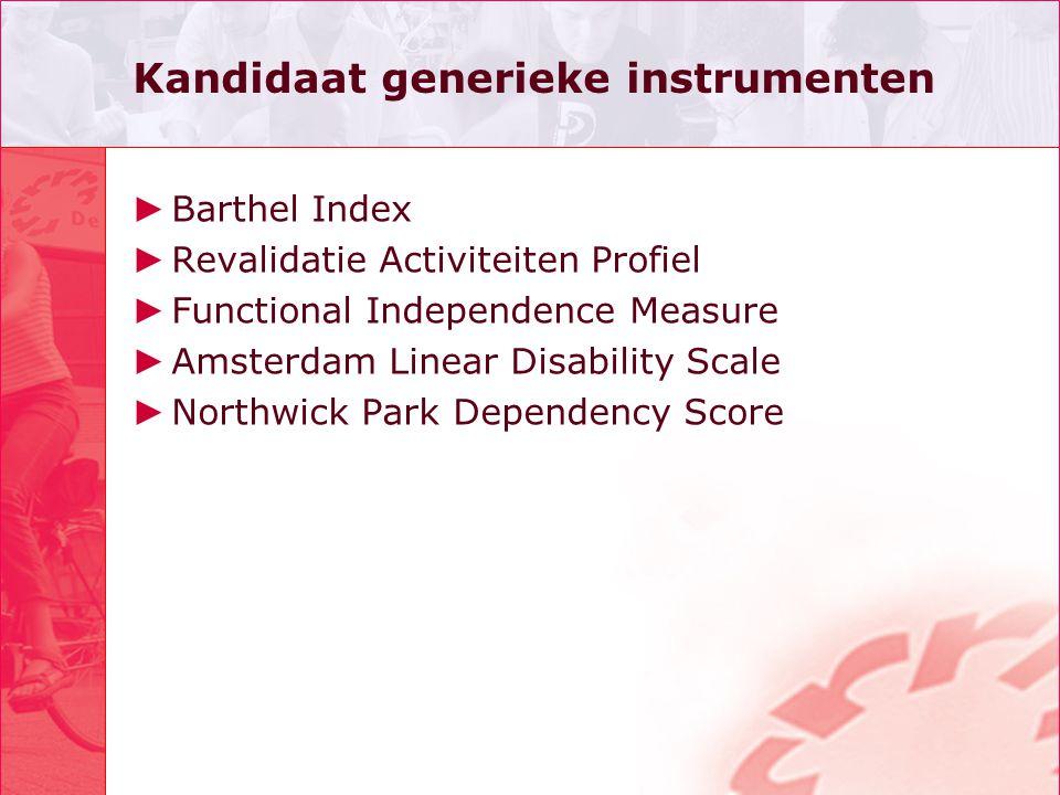 Kandidaat generieke instrumenten