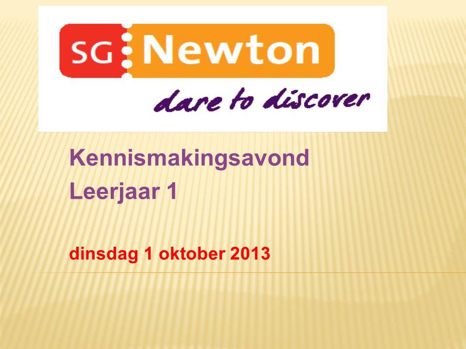 Kennismakingsavond Leerjaar 1 dinsdag 1 oktober 2013
