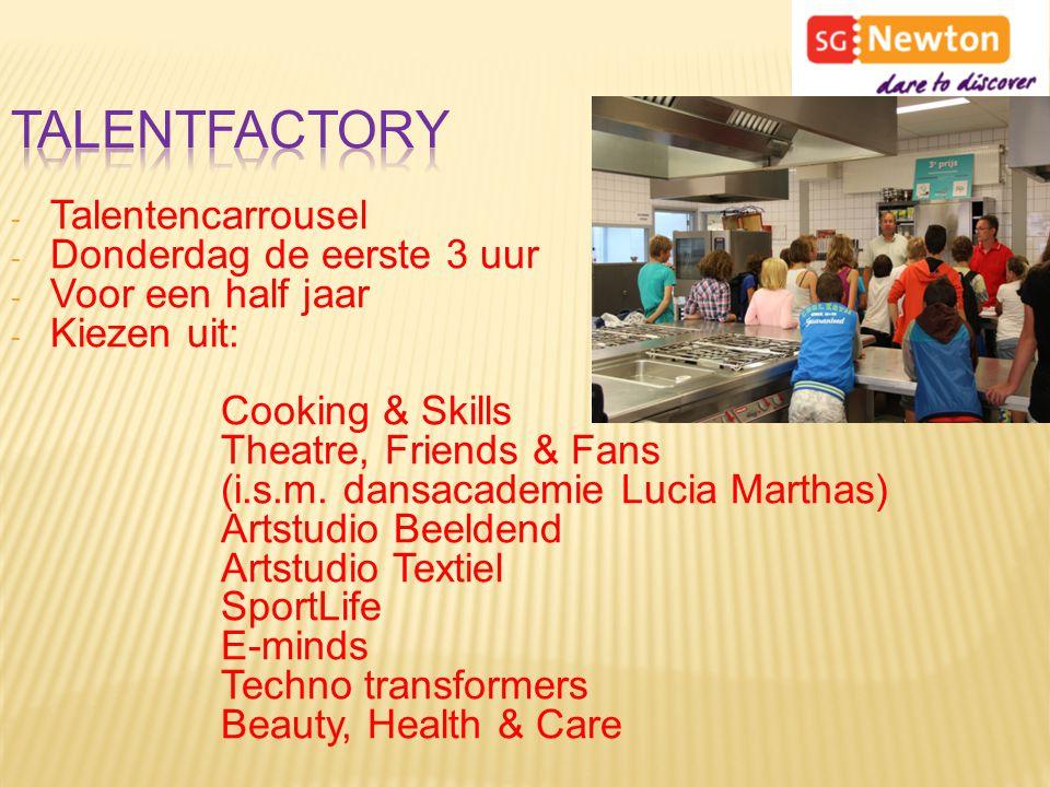 Talentfactory Talentencarrousel Donderdag de eerste 3 uur