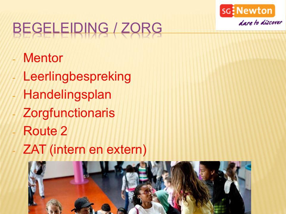 Begeleiding / Zorg Mentor Leerlingbespreking Handelingsplan