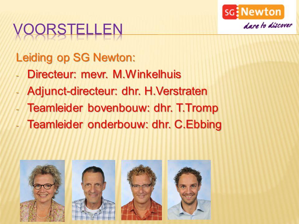 Voorstellen Leiding op SG Newton: Directeur: mevr. M.Winkelhuis