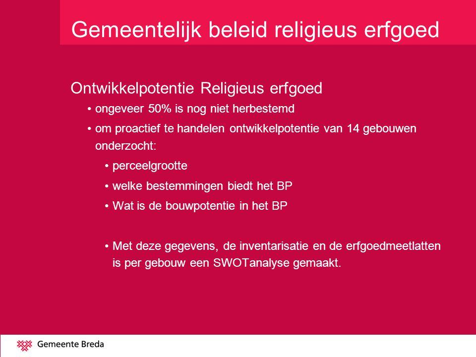 Gemeentelijk beleid religieus erfgoed