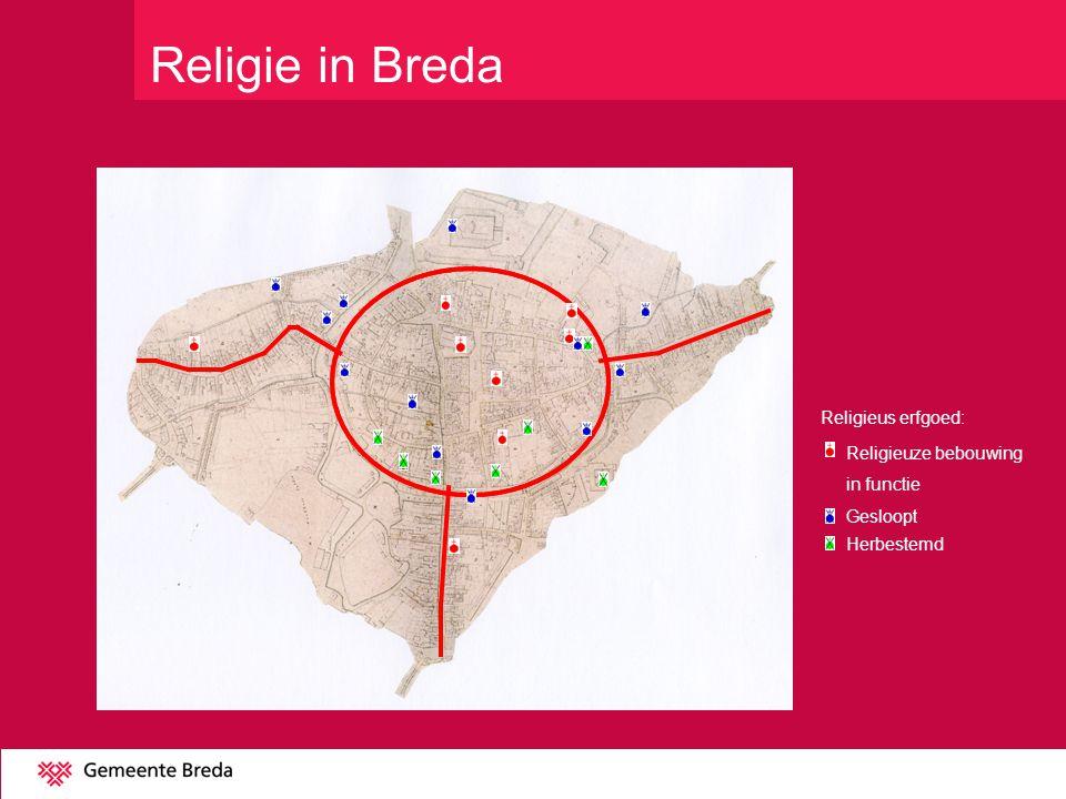 Religie in Breda Religieus erfgoed: Religieuze bebouwing in functie