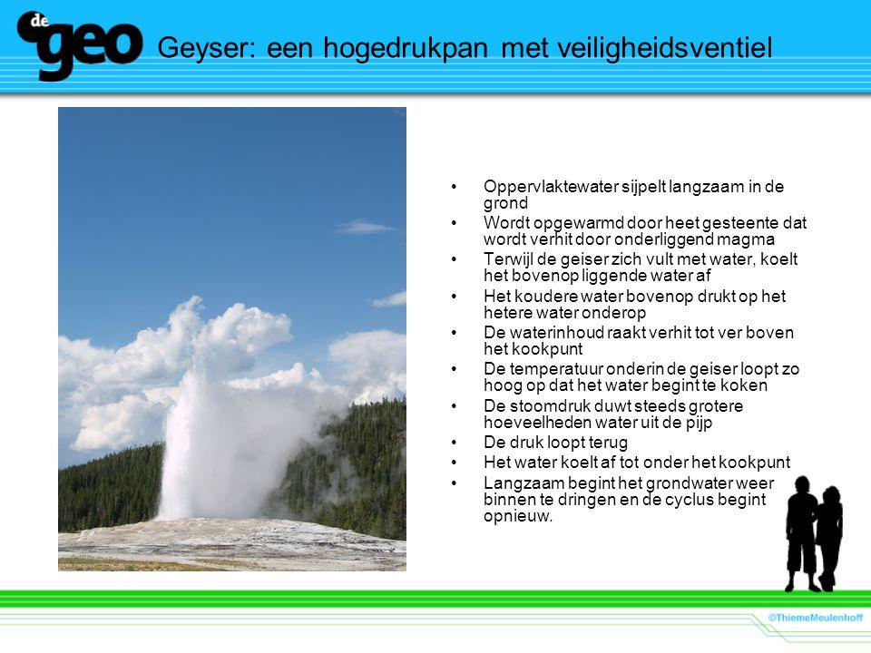 Geyser: een hogedrukpan met veiligheidsventiel