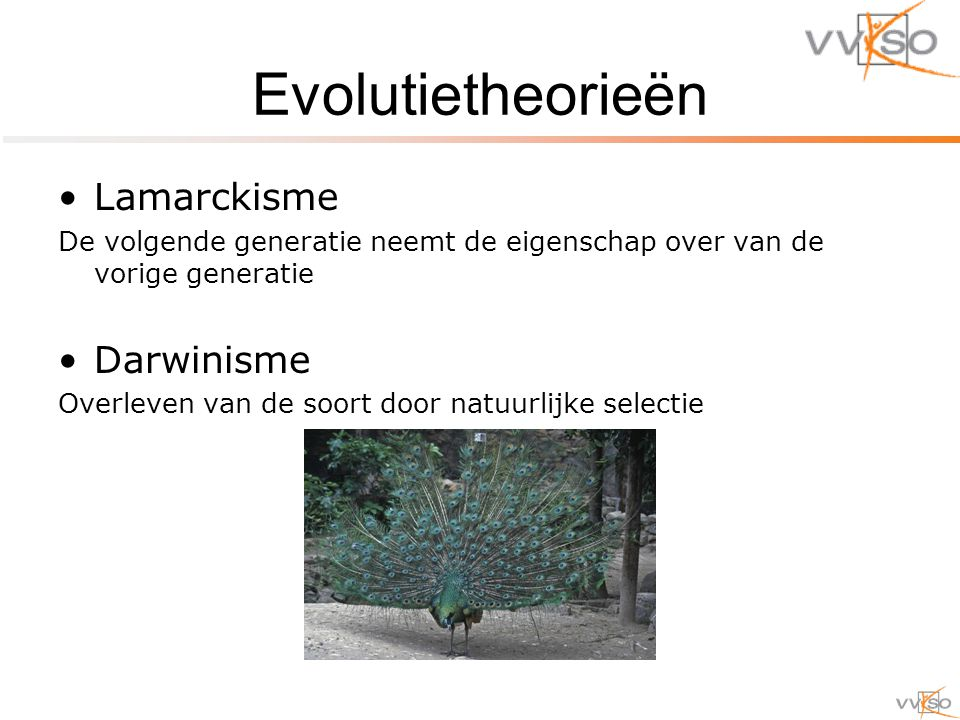 Evolutietheorieën Lamarckisme Darwinisme