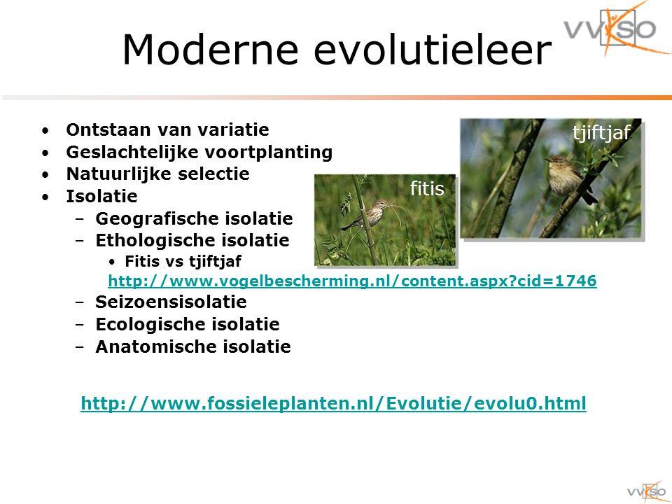 Moderne evolutieleer tjiftjaf fitis Ontstaan van variatie