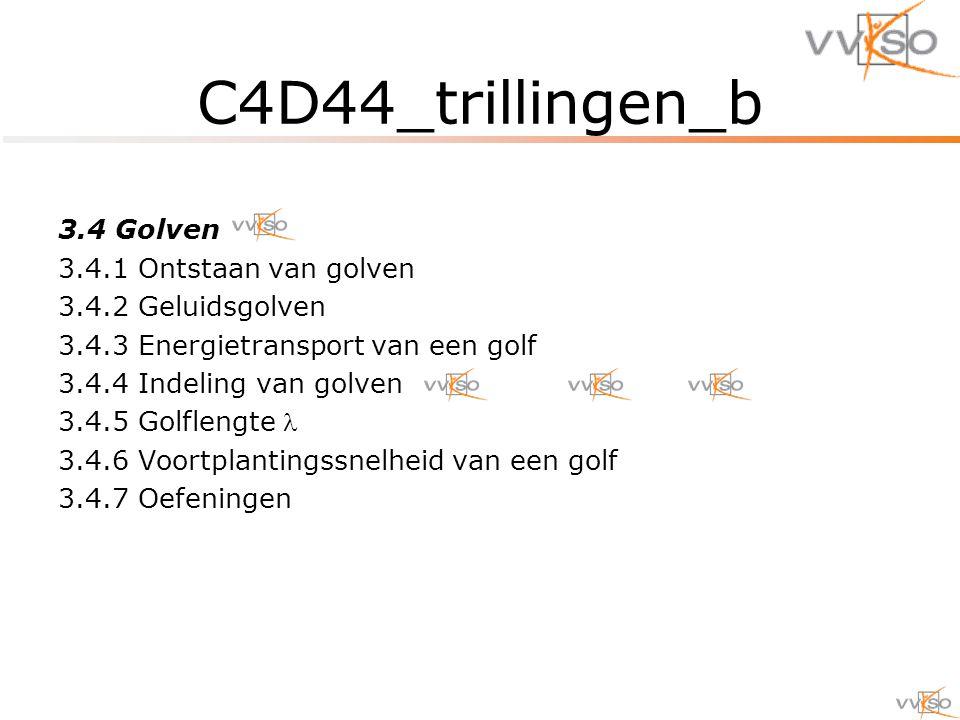 C4D44_trillingen_b 3.4 Golven 3.4.1 Ontstaan van golven