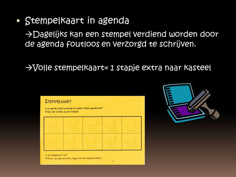 Stempelkaart in agenda