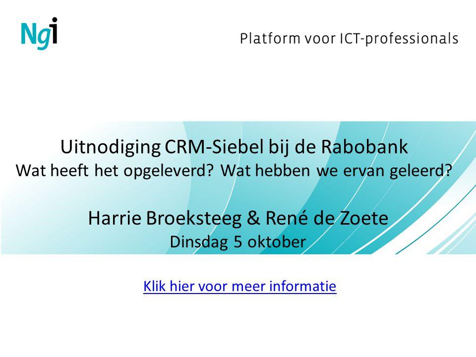 Harrie Broeksteeg & René de Zoete Dinsdag 5 oktober