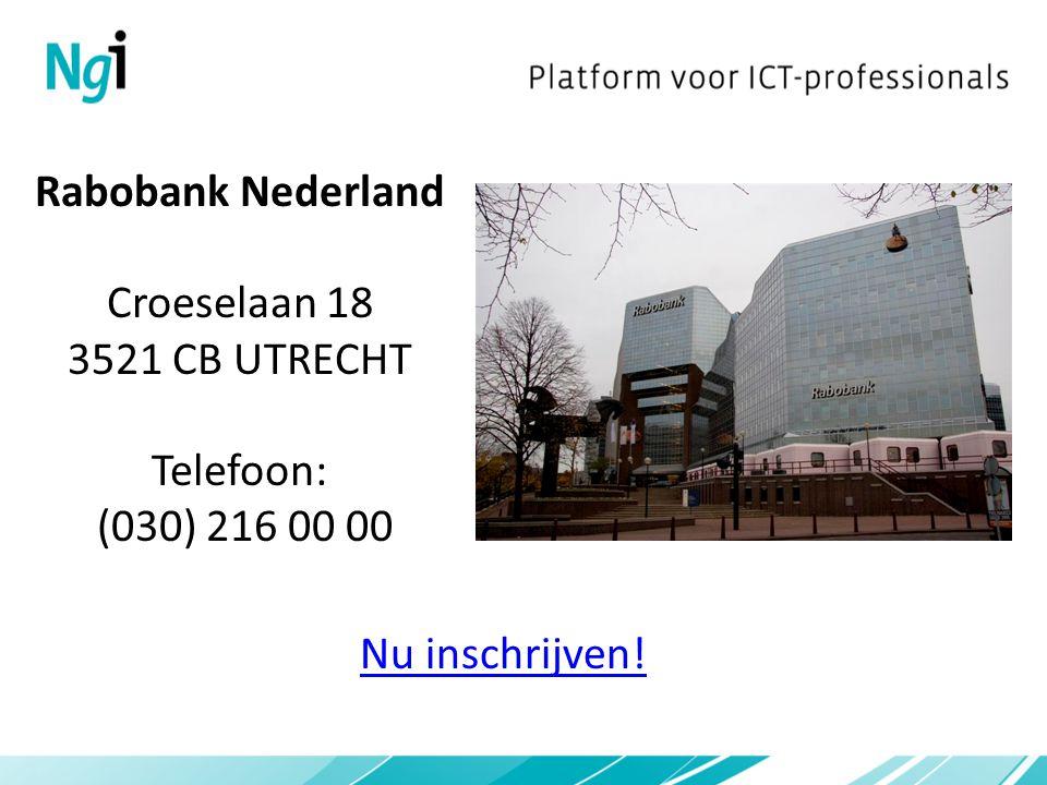 Rabobank Nederland Croeselaan 18 3521 CB UTRECHT Telefoon: (030) 216 00 00