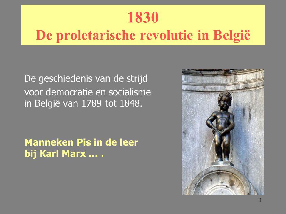 1830 De proletarische revolutie in België