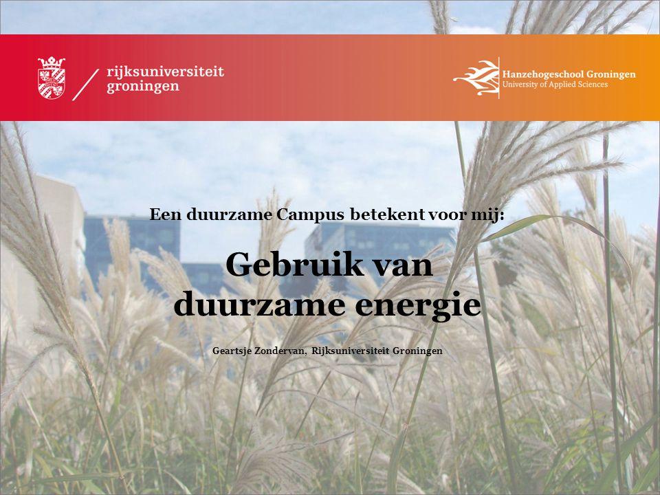 Geartsje Zondervan, Rijksuniversiteit Groningen