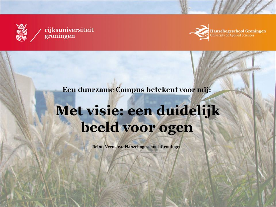 Reino Veenstra, Hanzehogeschool Groningen