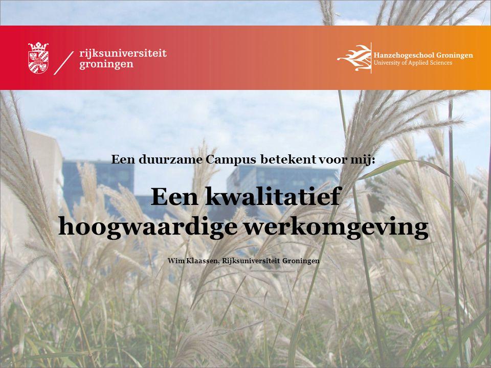 Wim Klaassen, Rijksuniversiteit Groningen