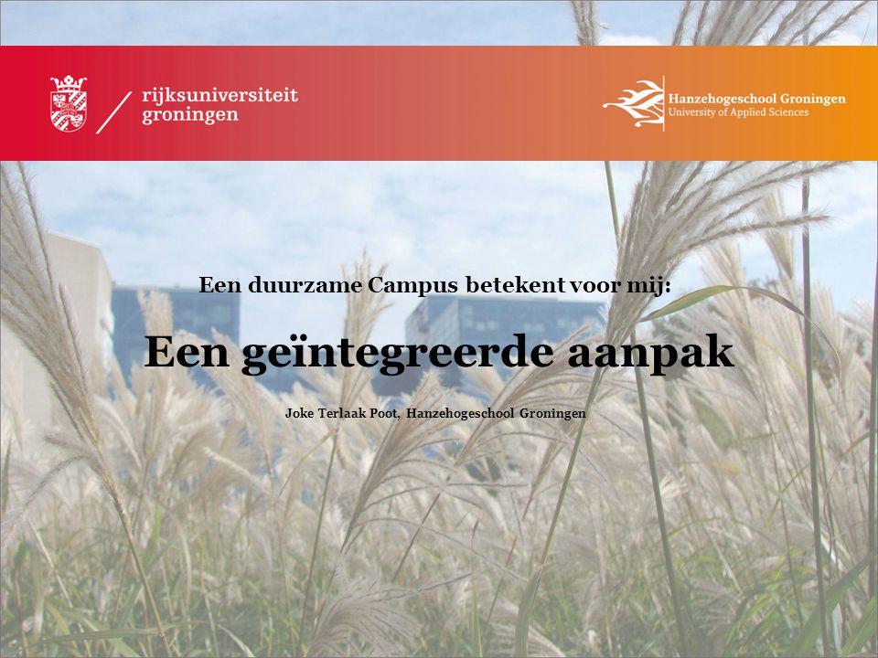 Joke Terlaak Poot, Hanzehogeschool Groningen