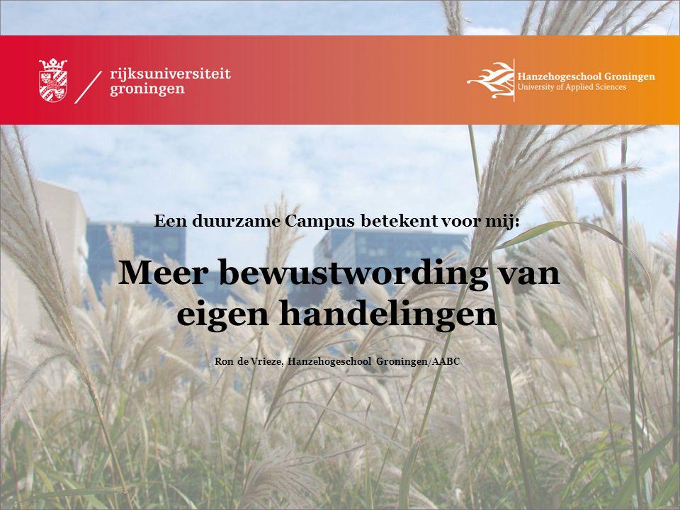 Ron de Vrieze, Hanzehogeschool Groningen/AABC