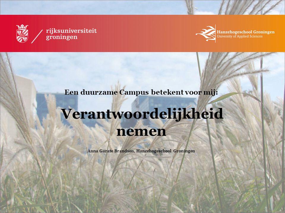 Anna Garate Brandsen, Hanzehogeschool Groningen