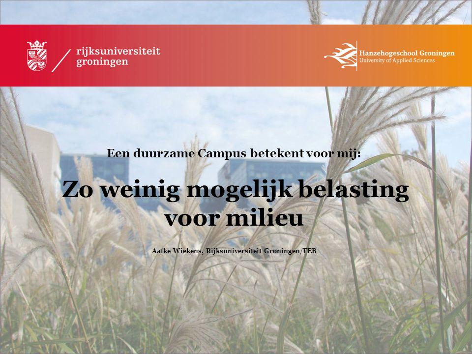 Aafke Wiekens, Rijksuniversiteit Groningen/FEB