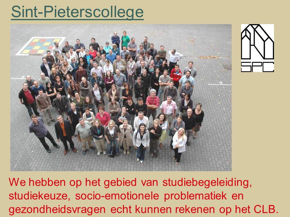 Sint-Pieterscollege We hebben op het gebied van studiebegeleiding,