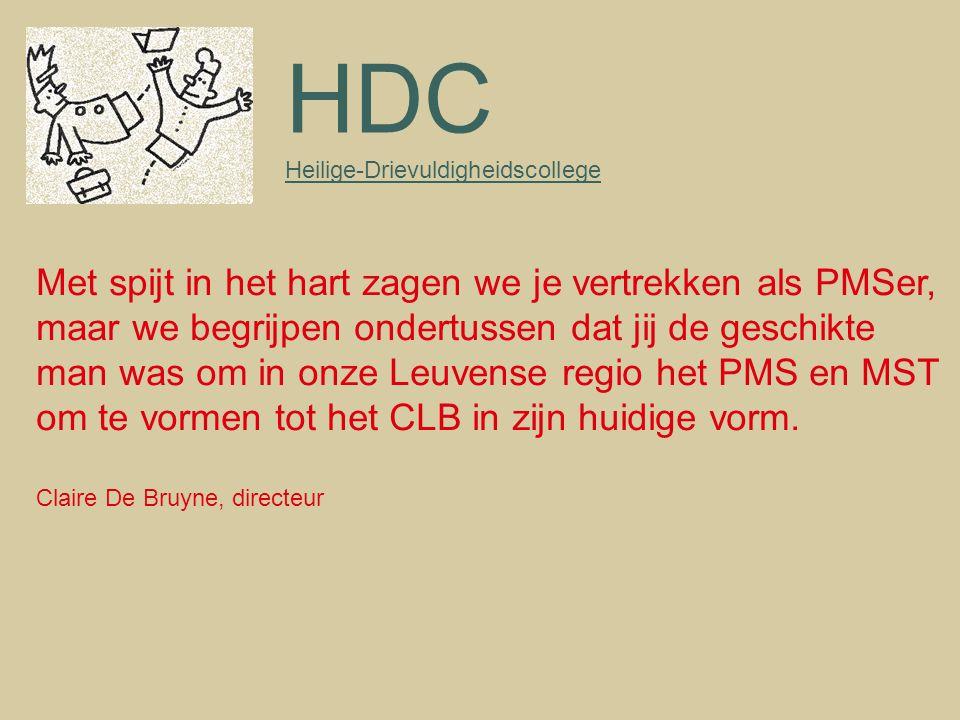 HDC Met spijt in het hart zagen we je vertrekken als PMSer,
