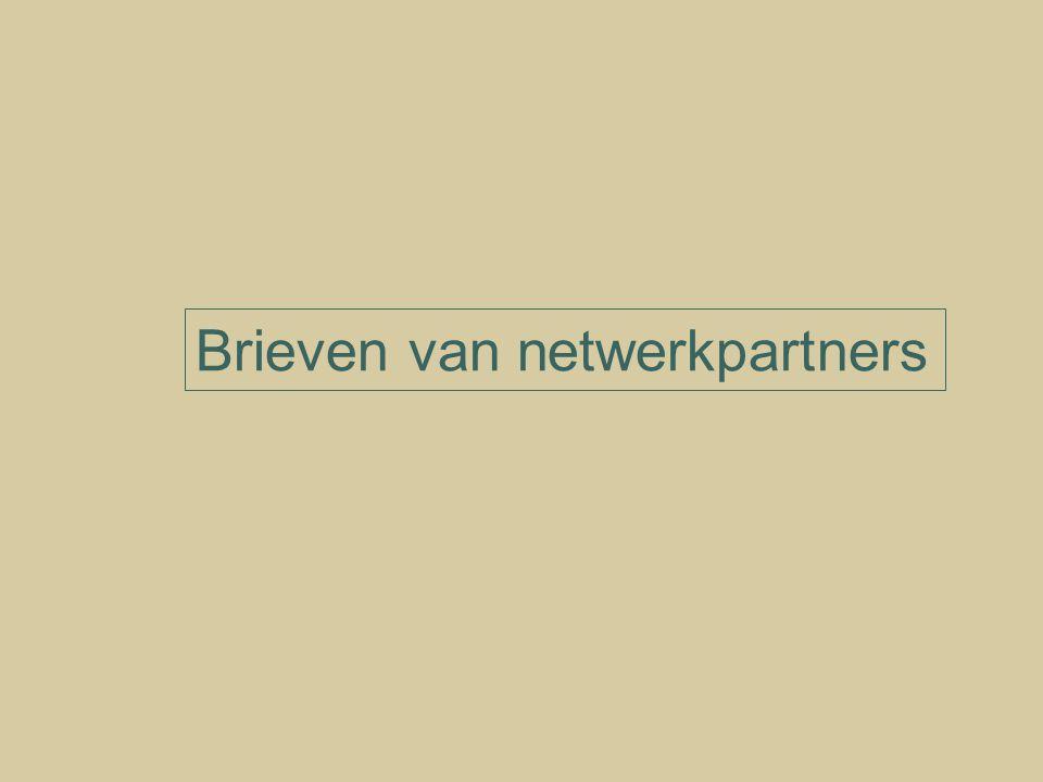 Brieven van netwerkpartners