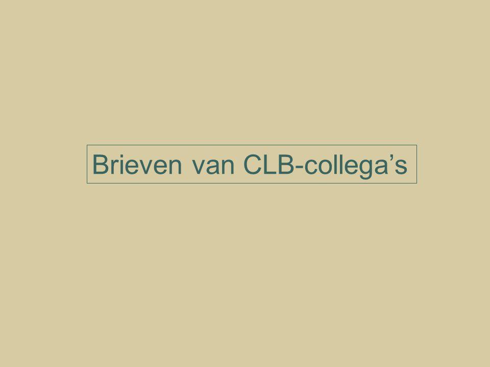 Brieven van CLB-collega's