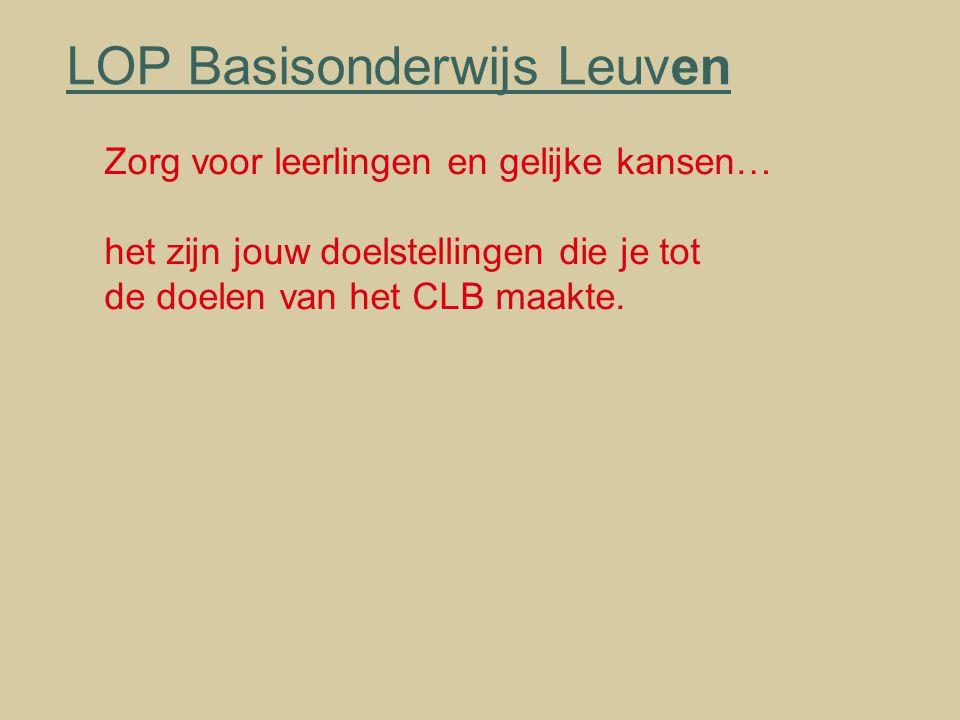 LOP Basisonderwijs Leuven