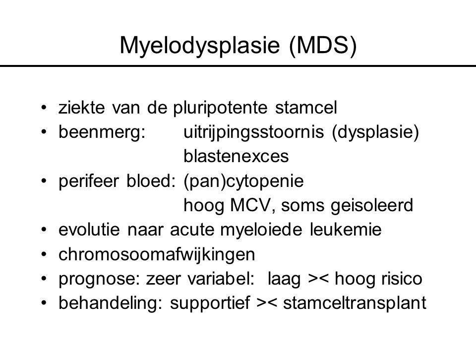 Myelodysplasie (MDS) ziekte van de pluripotente stamcel