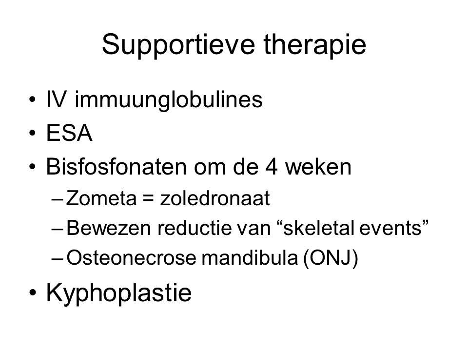 Supportieve therapie Kyphoplastie IV immuunglobulines ESA