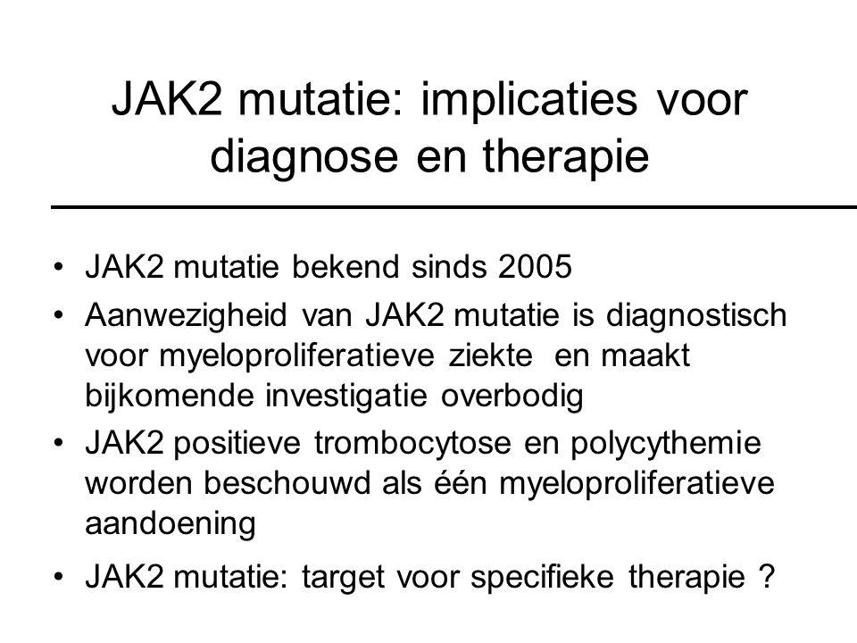 JAK2 mutatie: implicaties voor diagnose en therapie