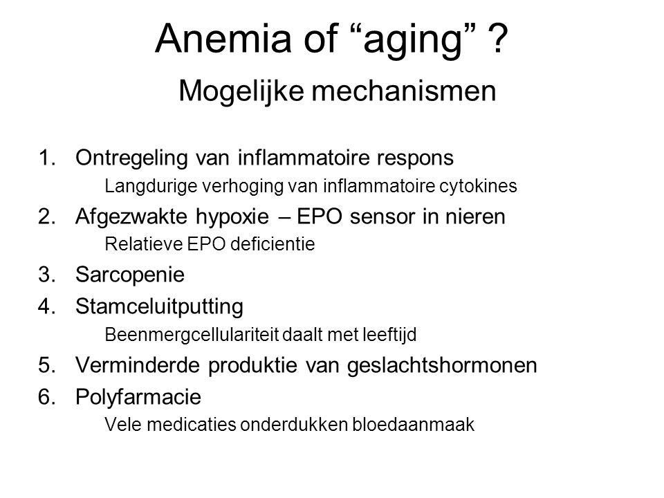 Anemia of aging Mogelijke mechanismen