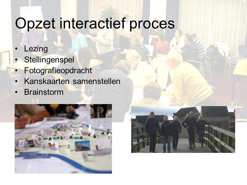 Opzet interactief proces