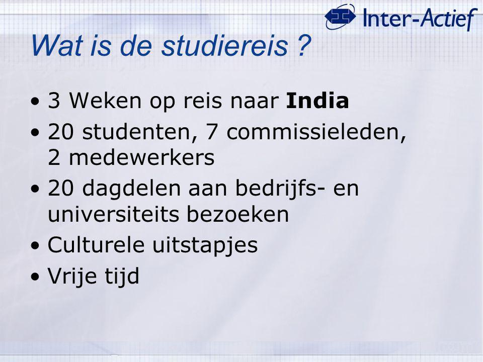 Wat is de studiereis 3 Weken op reis naar India