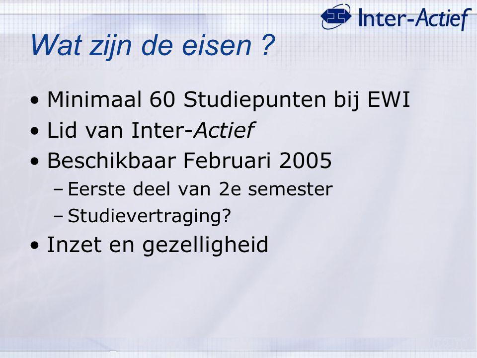 Wat zijn de eisen Minimaal 60 Studiepunten bij EWI