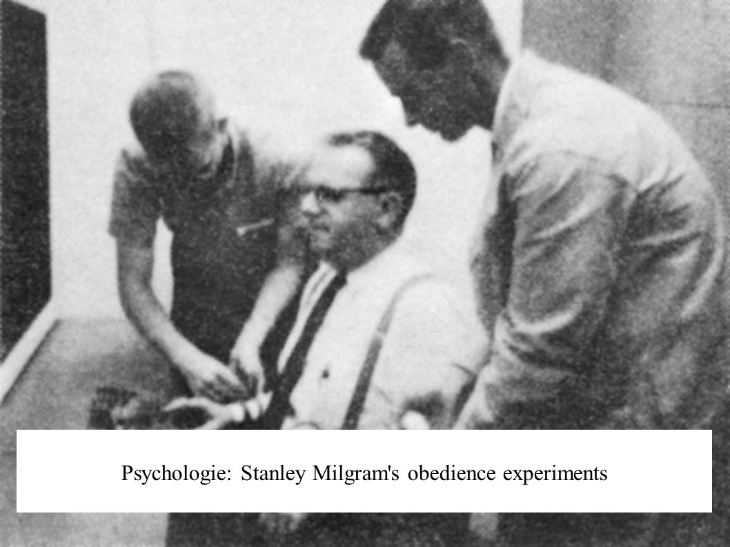 Psychologie: Stanley Milgram s obedience experiments