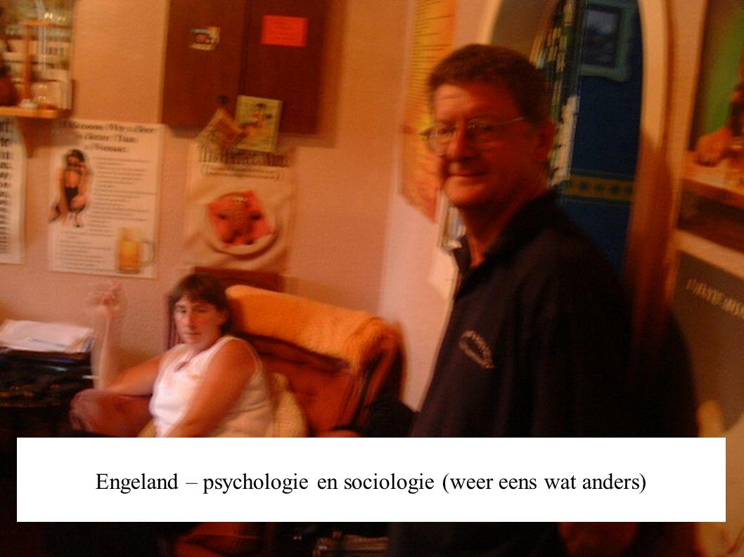 Engeland – psychologie en sociologie (weer eens wat anders)