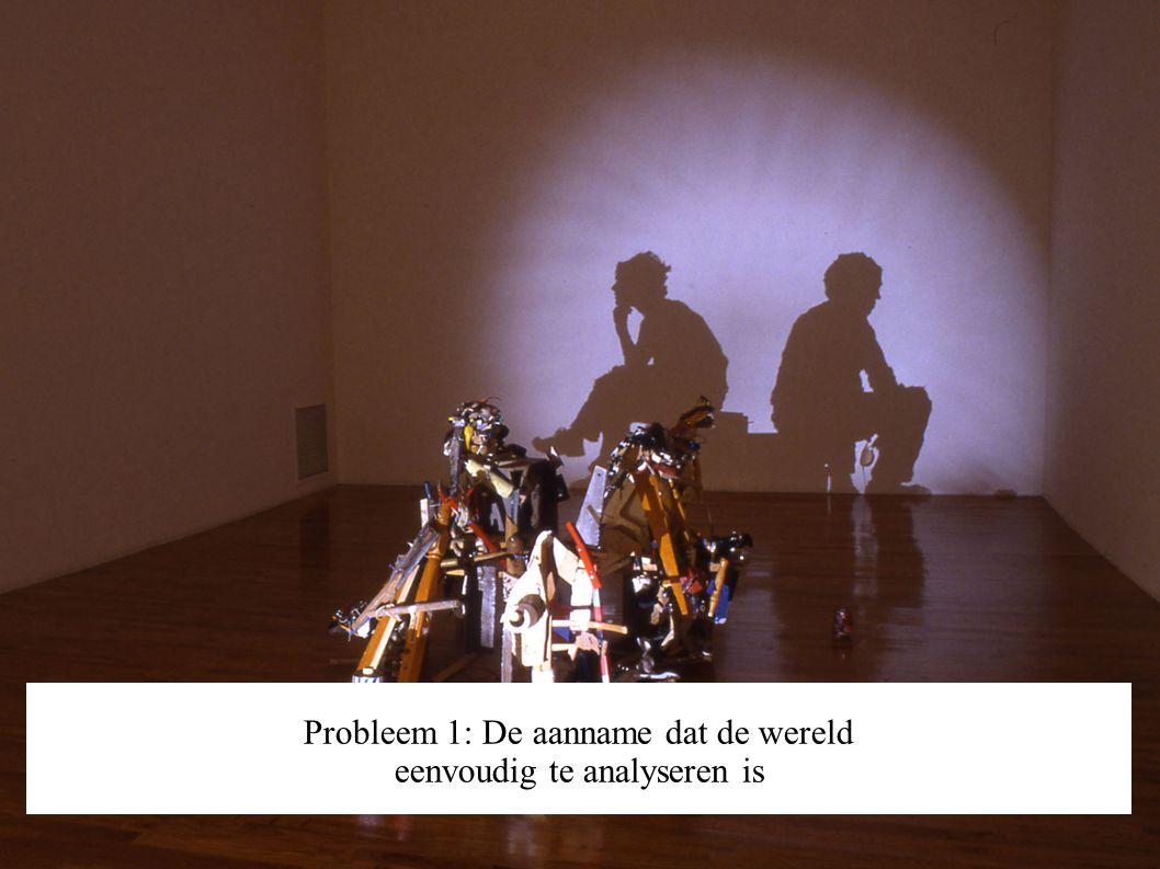 Probleem 1: De aanname dat de wereld eenvoudig te analyseren is