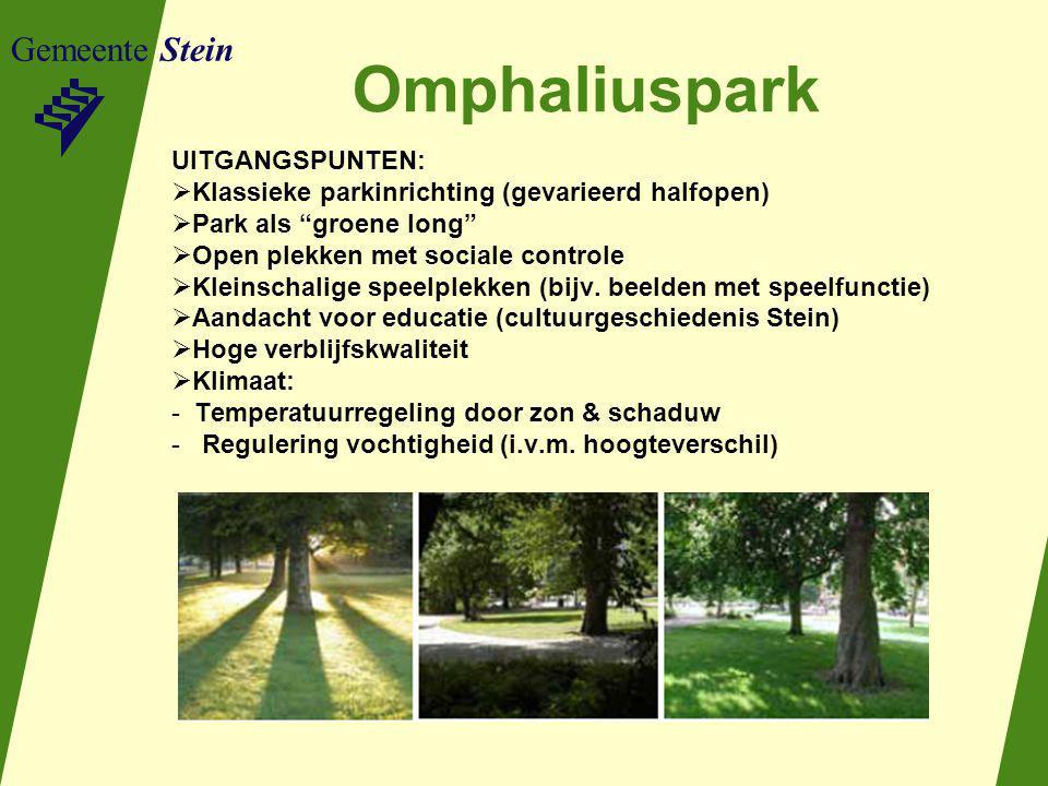 Omphaliuspark Gemeente Stein UITGANGSPUNTEN: