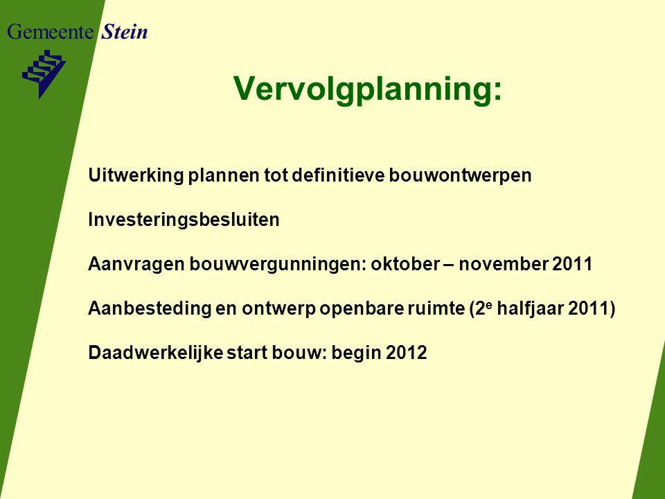Vervolgplanning: Gemeente Stein
