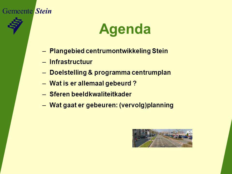 Agenda Gemeente Stein Plangebied centrumontwikkeling Stein
