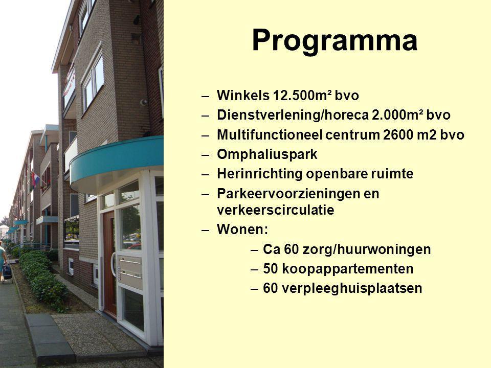 Programma Winkels 12.500m² bvo Dienstverlening/horeca 2.000m² bvo