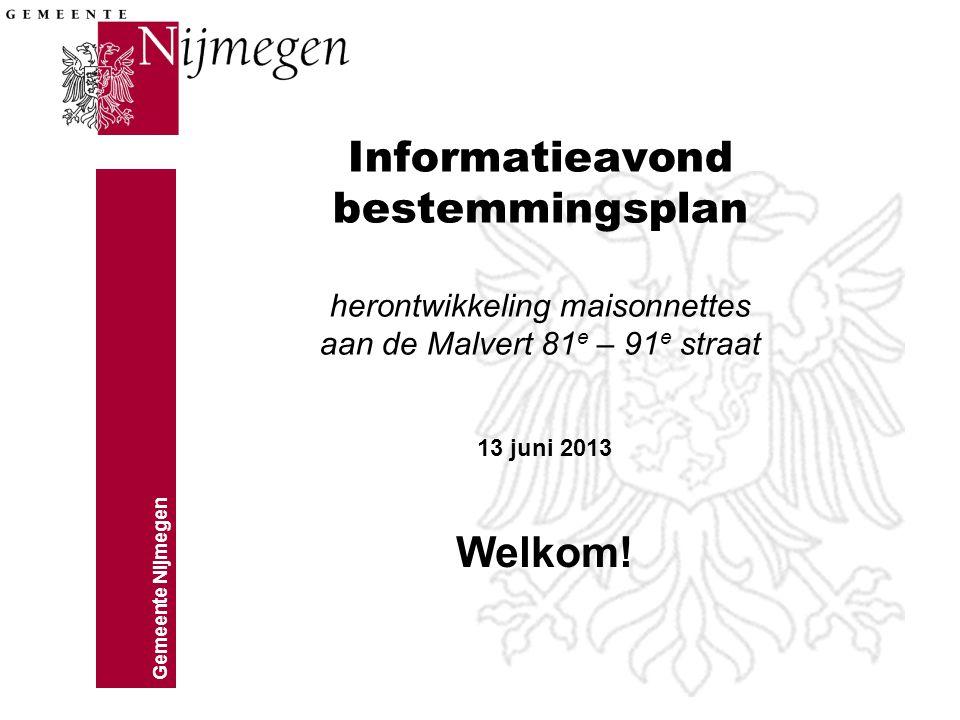 Informatieavond bestemmingsplan herontwikkeling maisonnettes aan de Malvert 81e – 91e straat