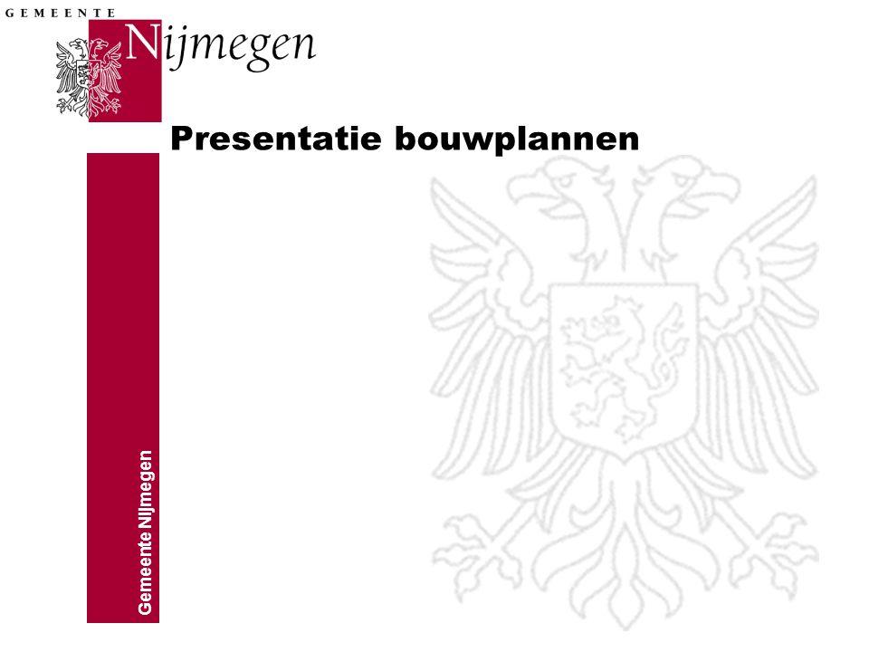Presentatie bouwplannen