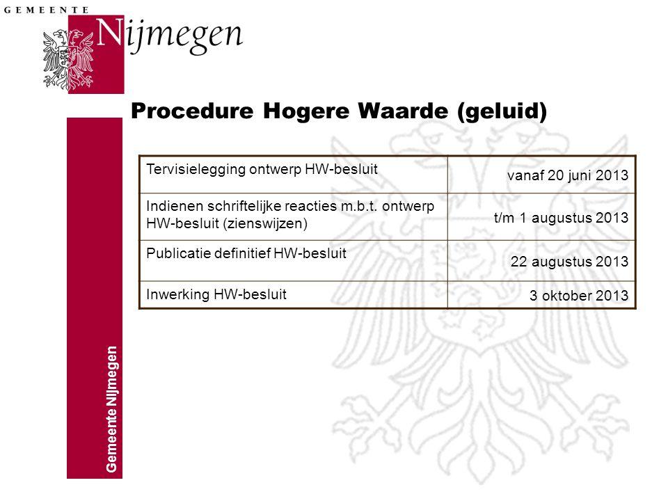Procedure Hogere Waarde (geluid)