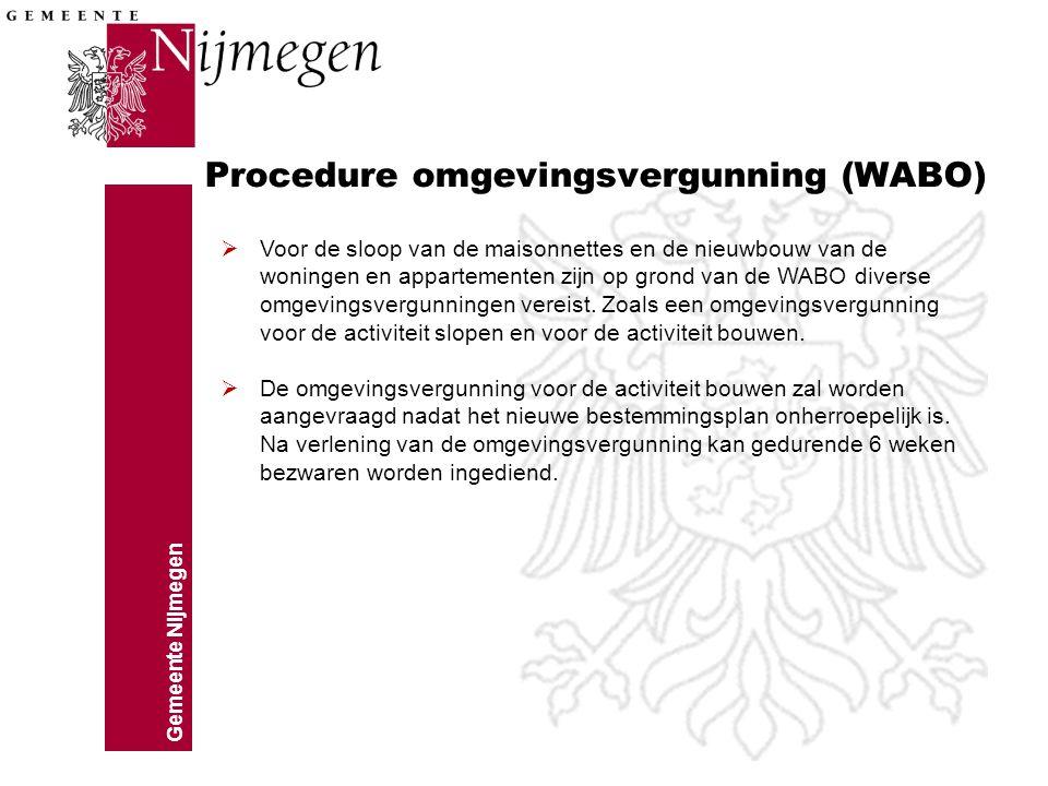 Procedure omgevingsvergunning (WABO)