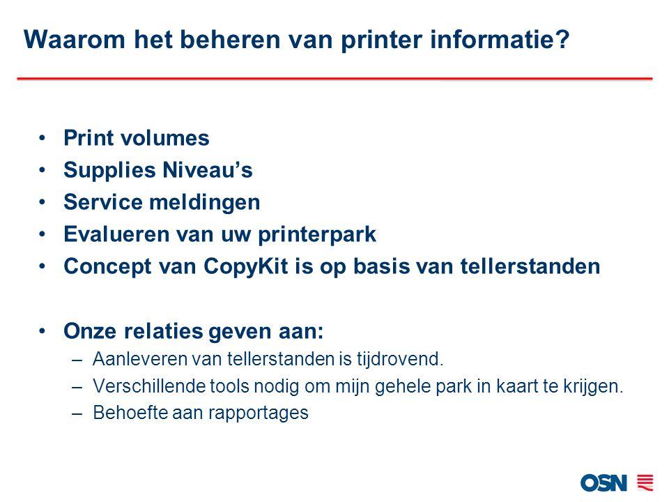 Waarom het beheren van printer informatie