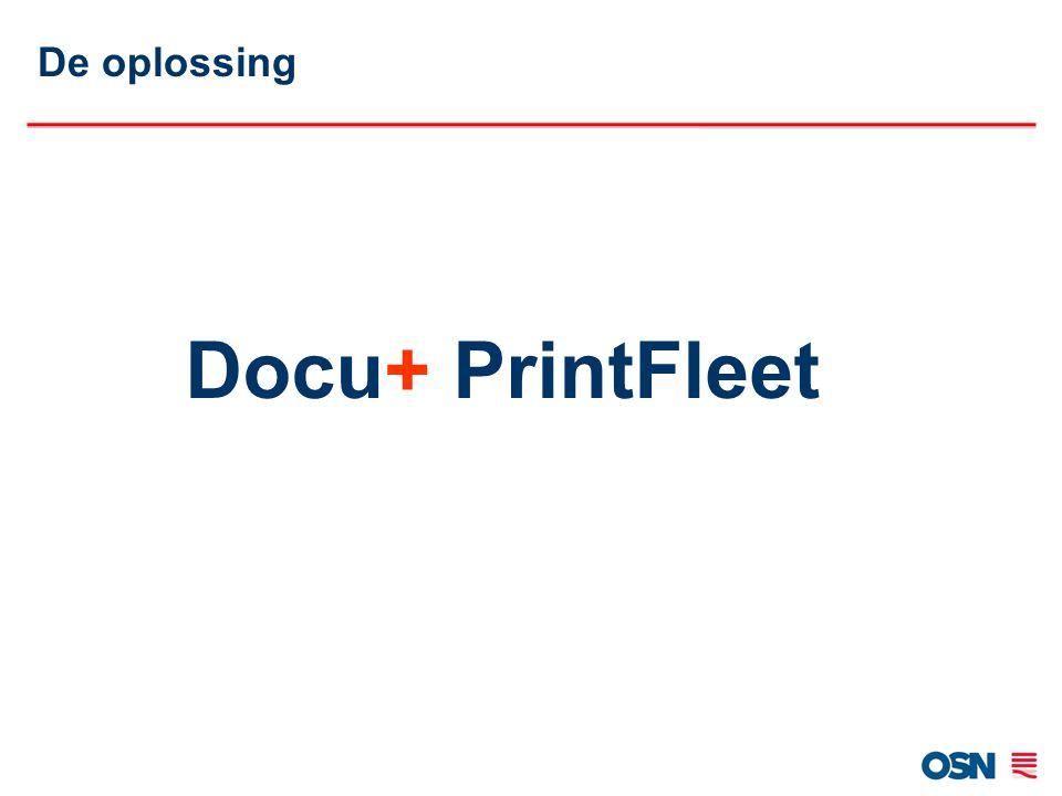 De oplossing Docu+ PrintFleet